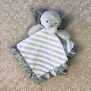 Cloud Island Elephant Lovey Gray White Stripes
